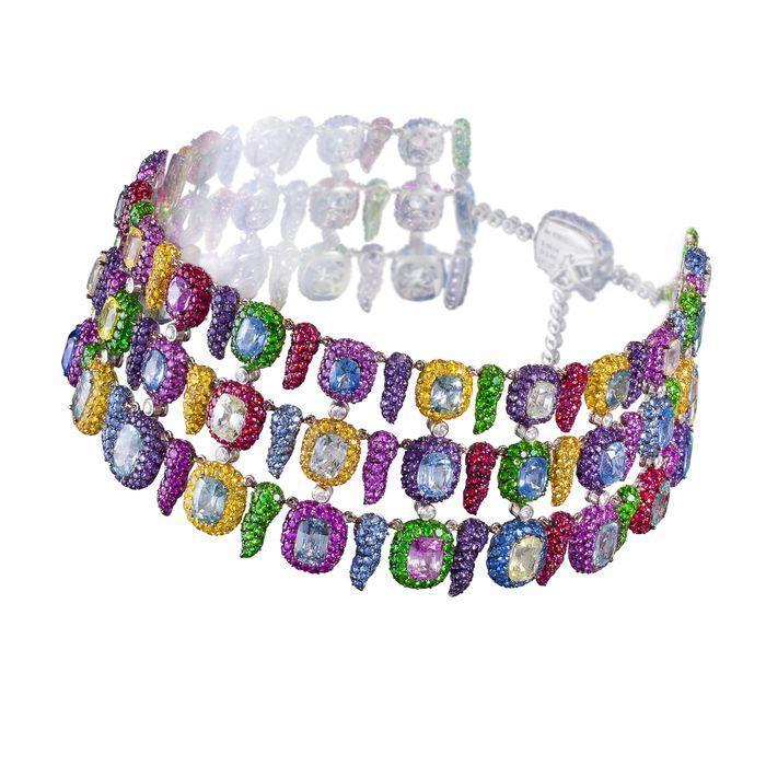 7. Радужное ожерелье de Grisogono Ожерелье de Grisogono переливается всеми цветами радуги благодаря