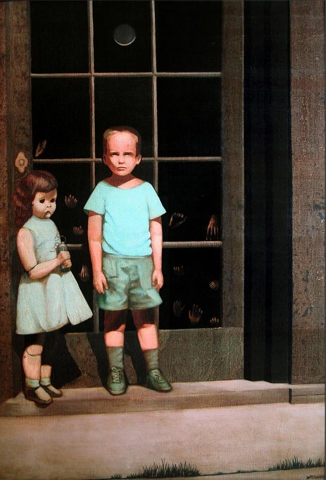 © wikipedia  Художник Билл Стоунхэм утверждает, что картину онписал сосвоей детской фотограф