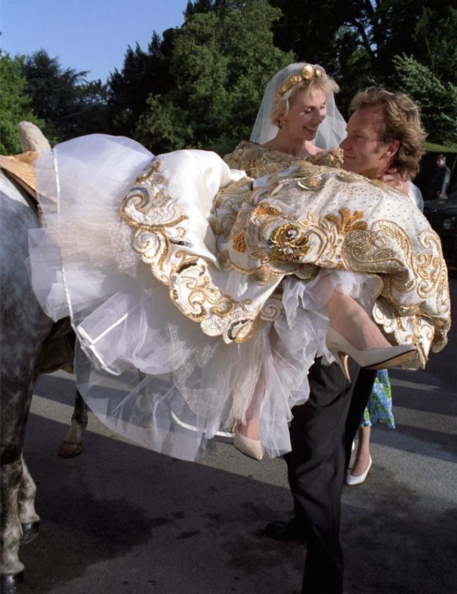 © RICHARD YOUNG/REX/Shutterstock  Стинг иТруди Стайлер устроили в1992 году необычную свадьбу