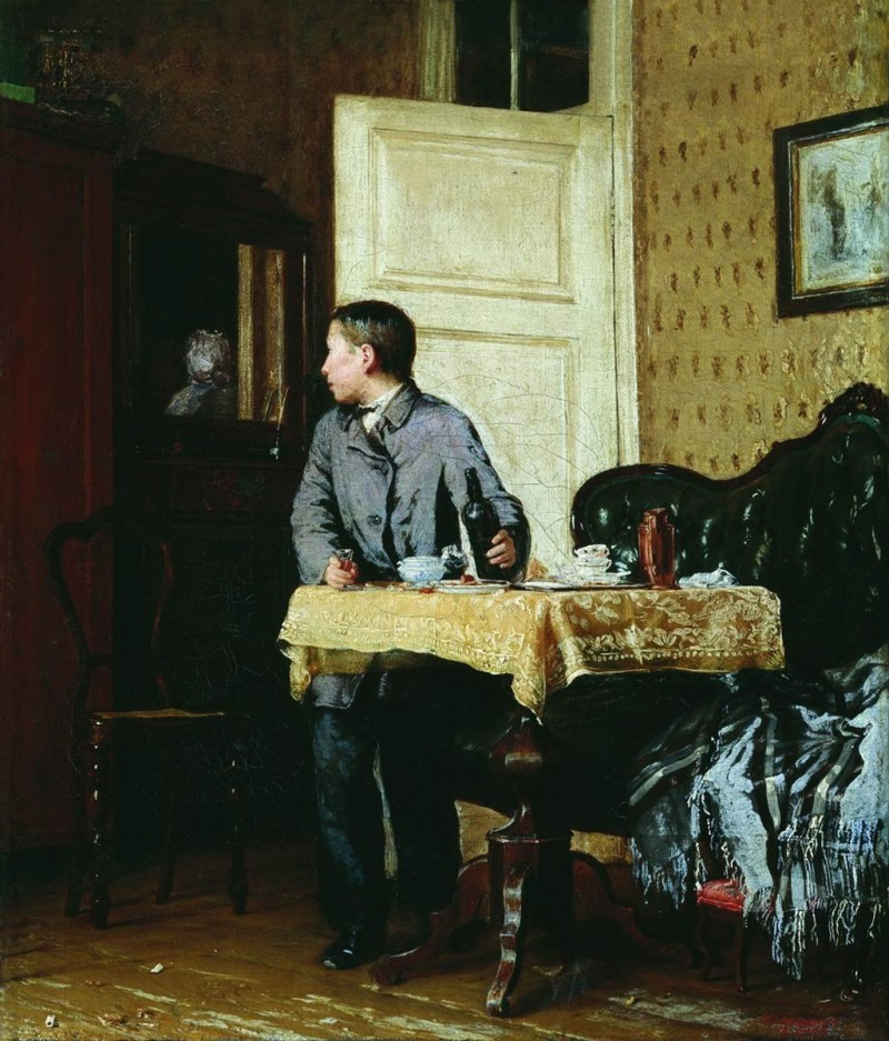 Иван Богданов — «Новичок» (1893 год) Пьяный в стельку сапожник «учит жизни» заплаканного подмастерья