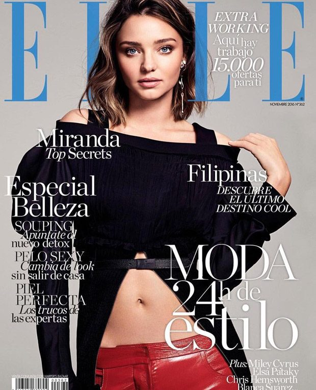 Miranda Kerr Stuns in Louis Vuitton for Elle Spain November 2016 Cover