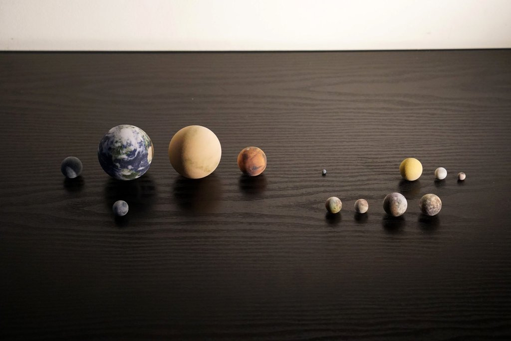 Tiny Realistic 3D Printed Solar System