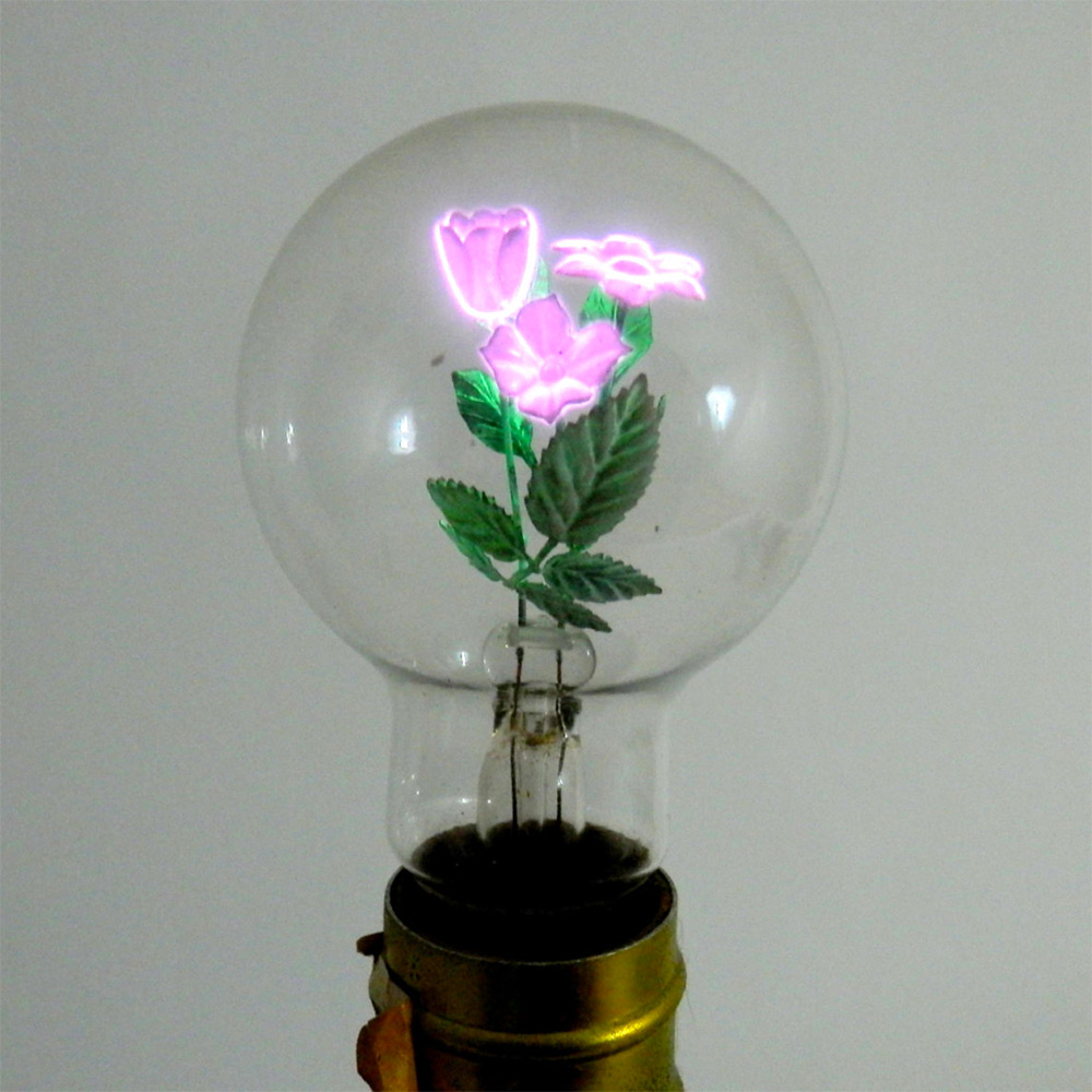 The Timeless Beauty of Vintage Aerolux Light Bulbs Containing Floral Filaments