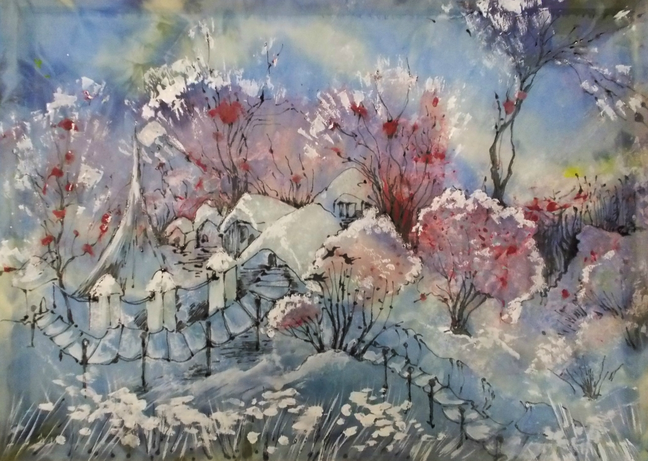 "Пейзаж за час ""Зима. Рябина"""
