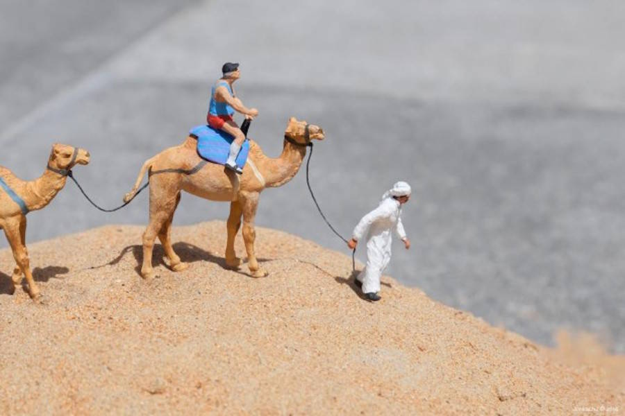 Miniature Figurines Staged in Dubai