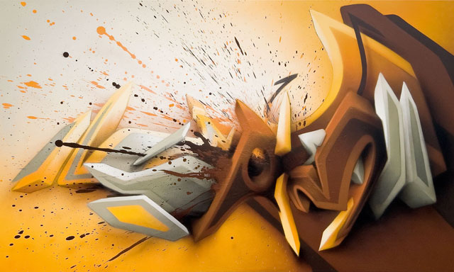 Awesome Graffiti on Canvas by Daim