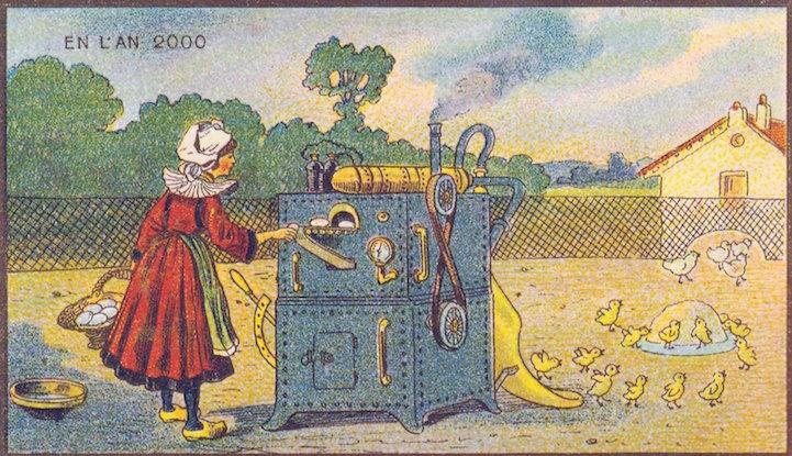 Ilustracoes do seculo 19 prevendo o ano 2000