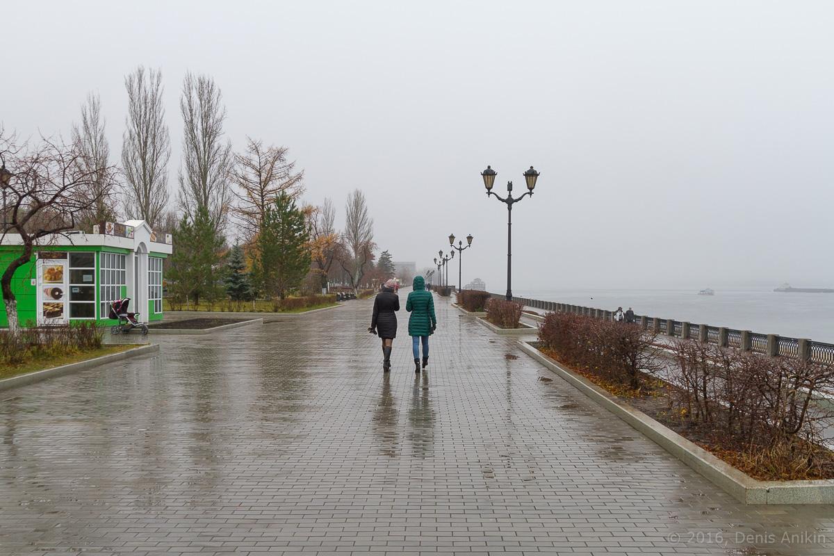 Самара набережная туман дождь фото 8
