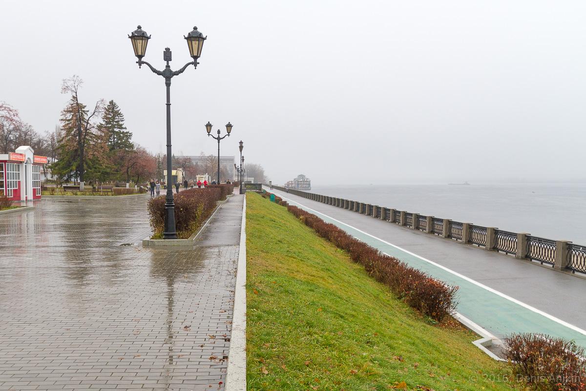 Самара набережная туман дождь фото 11