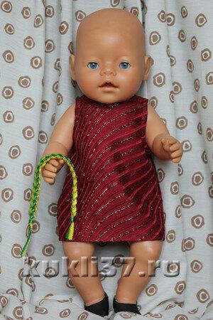 короткий сарафанчик для куклы