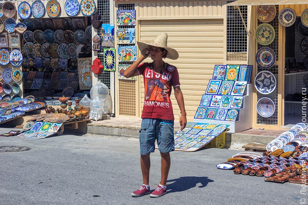 торговец в Тунисе