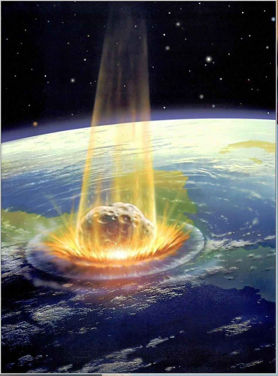 Удар астероида. Художник Д. Харди..jpg