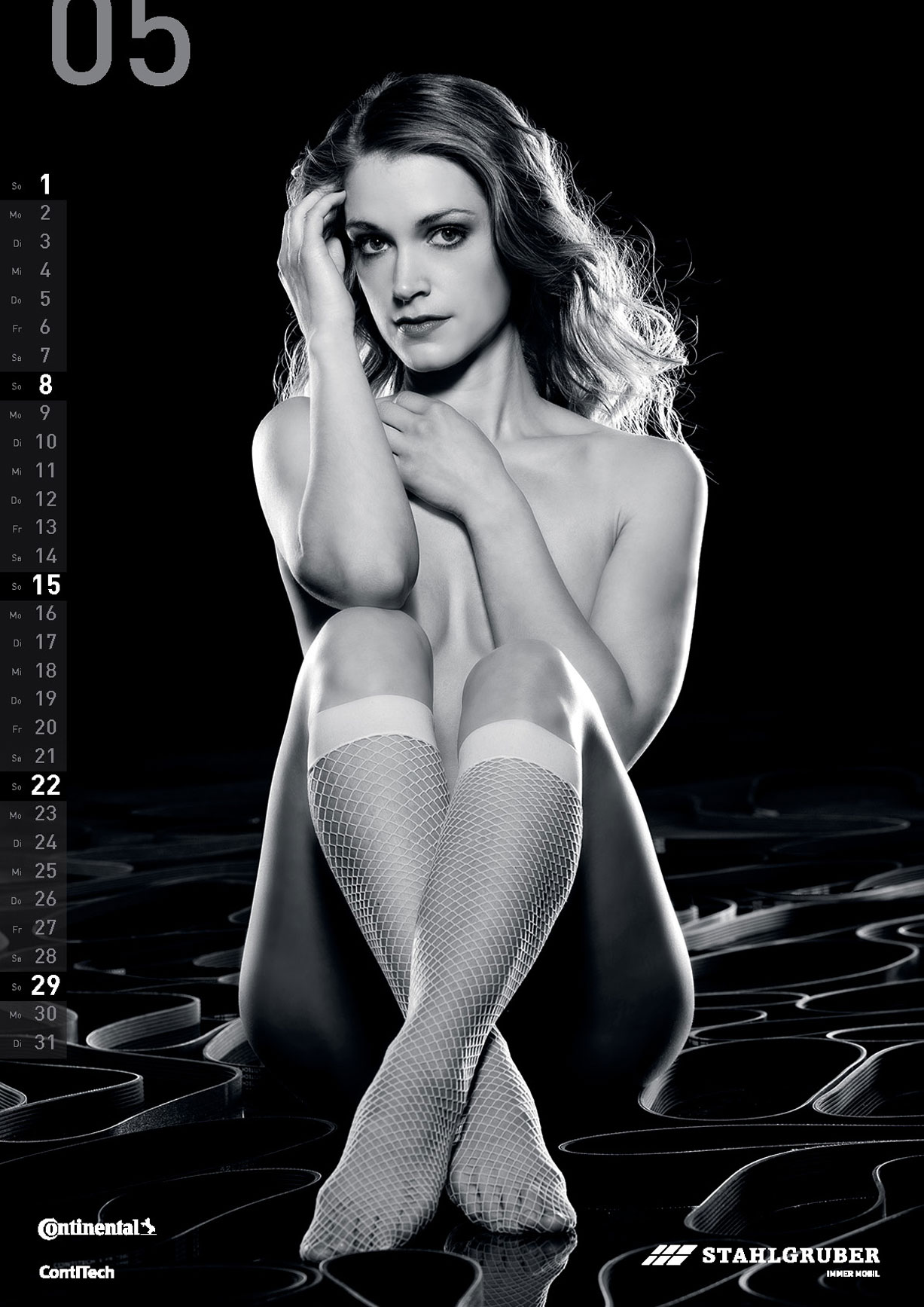 Черно-белый эротический календарь 2016 WERKSTATTkultur