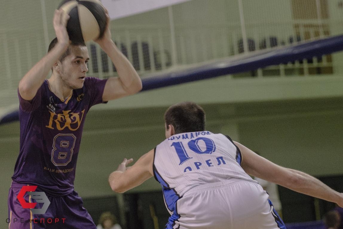 Для баскетболистов ОрелГУ Крым оказался не нашим