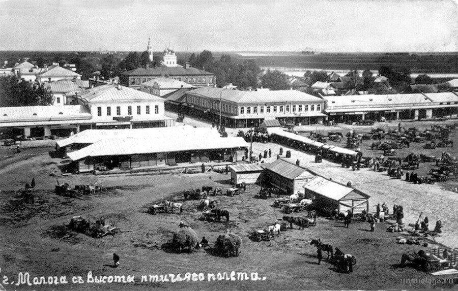 615045 Вид с каланчи. Торговая площадь. Воскресенский собор 1900-10-е.jpg