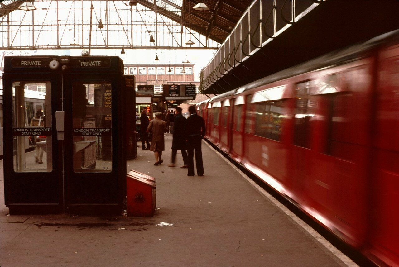 Лондон. Платформа вокзала