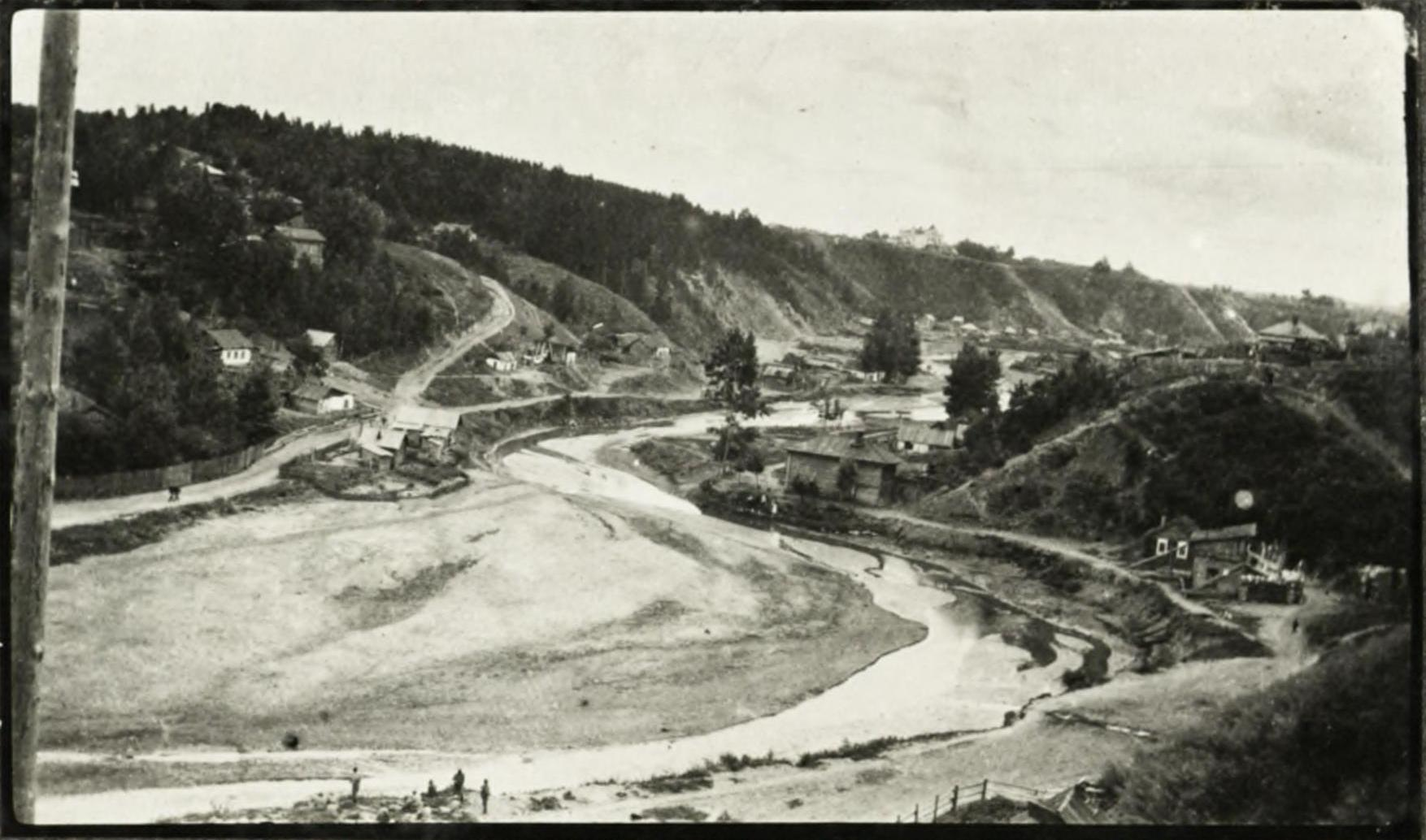 Каменка и место постройки моста (1915)