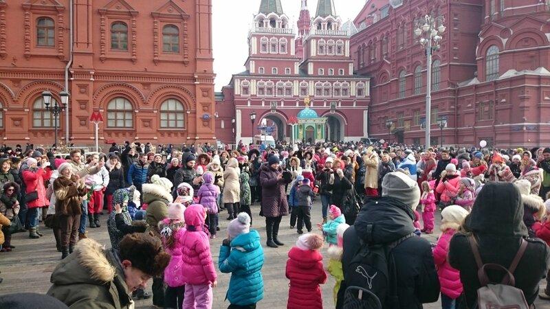 Москва, Масленица, Красная Площадь