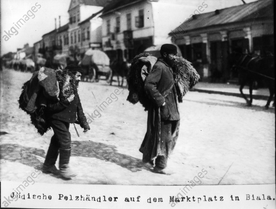 Jьdische Pelzhдndler in Biala 1915 - Jewish fur seller in Biala 1915 -