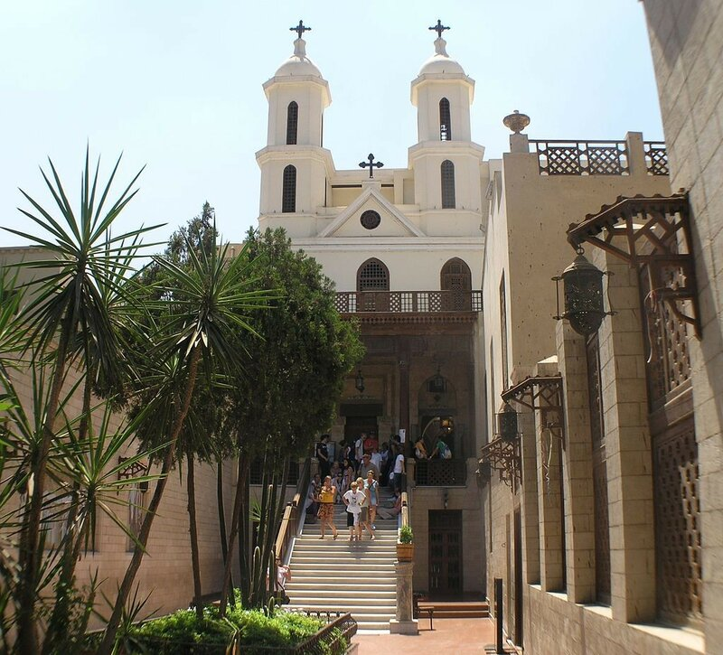 1024px-Cairo_-_Coptic_area_-_Hanging_Church_from_courtyard.JPG