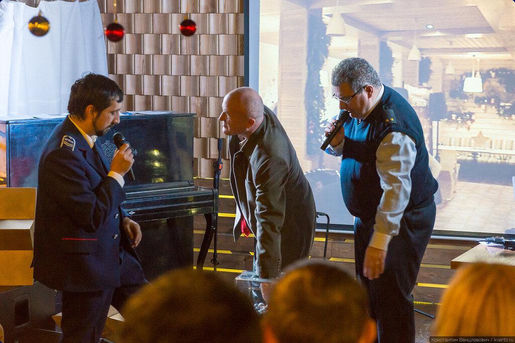 Ведущие вечера Сергей Мартиросян aviator_ru и Макс Рублёв metroelf скучать не давали
