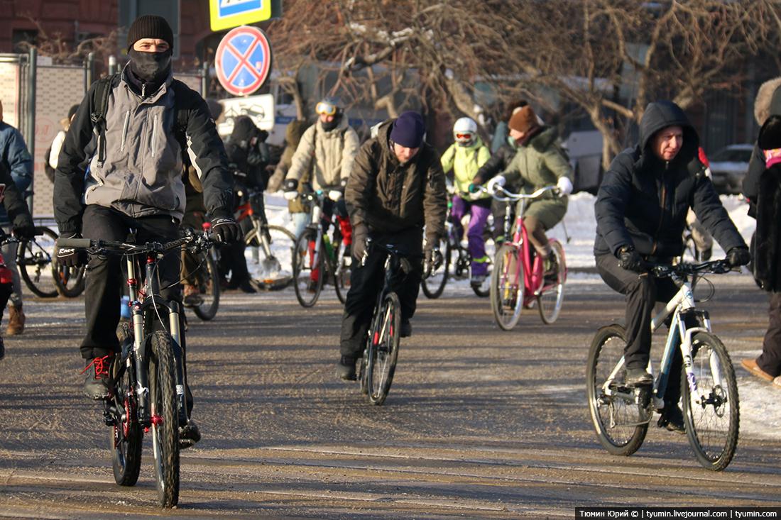 зимний велопарад 2017