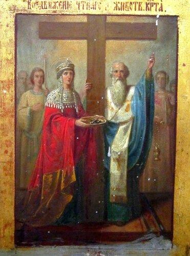 Воскресение Христово с праздниками. Икона второй половины 19 века.