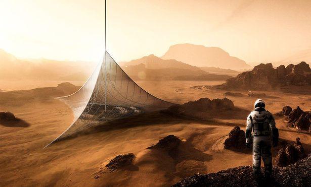 Проект небоскреба на Марсе.
