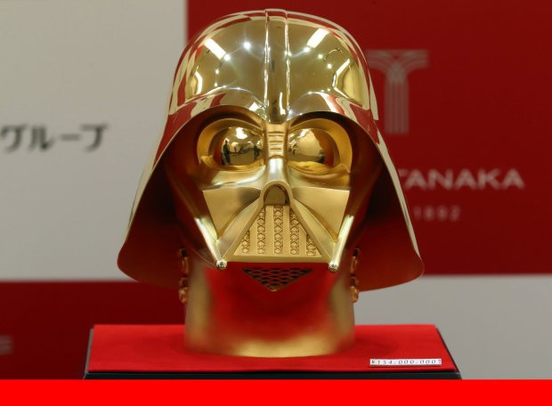 Золотой шлем Дарта Вейдера продадут вЯпонии за1,4 млн долларов