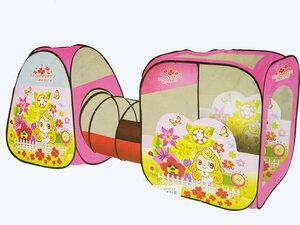 Детская палатка домик с тоннелем SG7015-А розовая