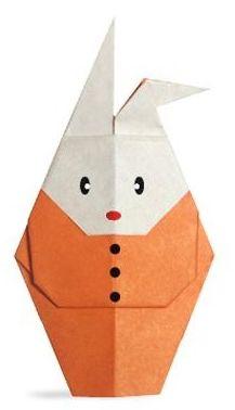 Пасхальные кролики в технике оригами