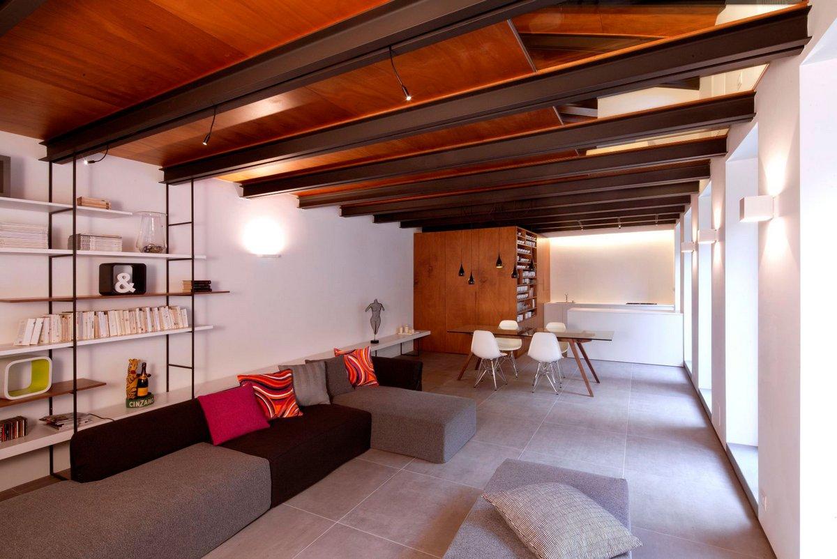 Дизайн большой гостиной комнаты