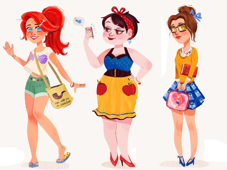 Modern Princesses - The modern versions of famous Disney Princesses