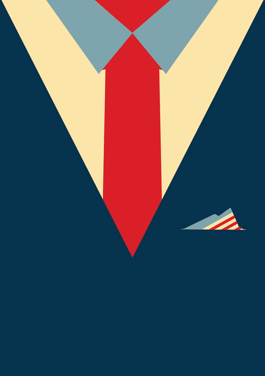 Contemporary Artists Suit & Tie Posters