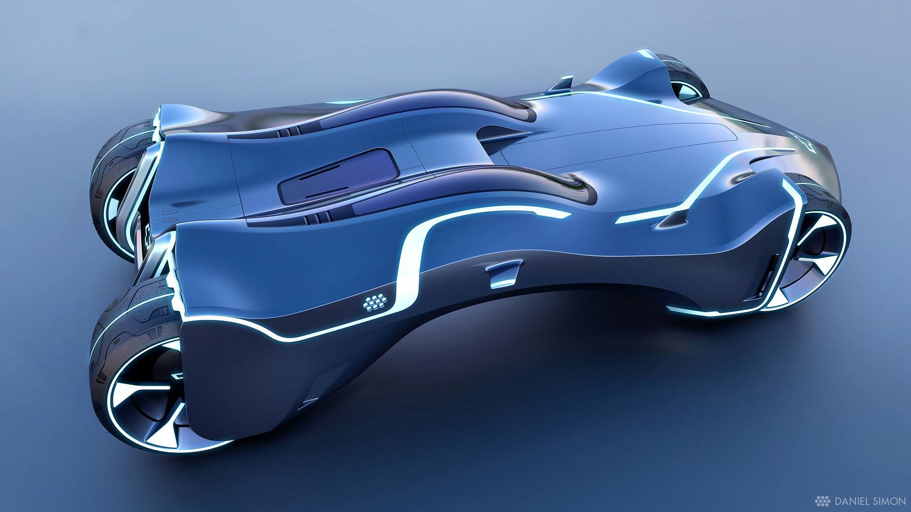TRON Lightcycle Power Run Car Design by Daniel Simon