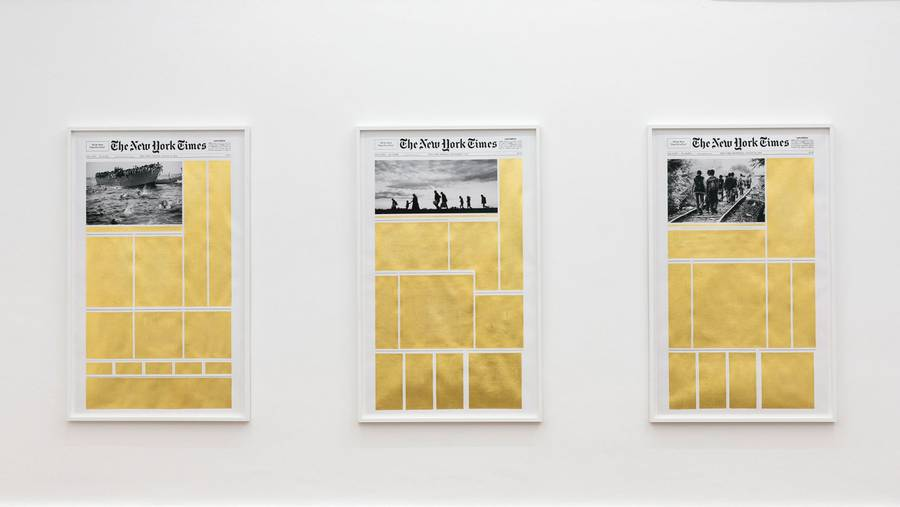 Enhancing New York Times Covers with Gold Leaves Trips