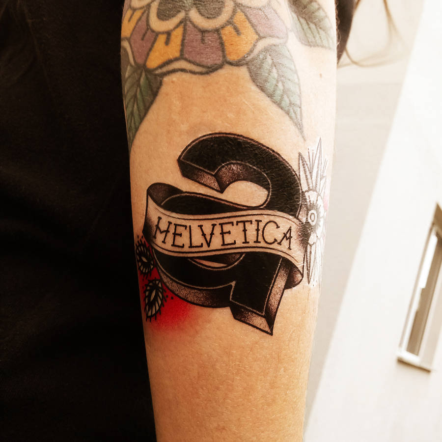 Very Graphic Tattoos Paying Tribute to Famous Typefaces
