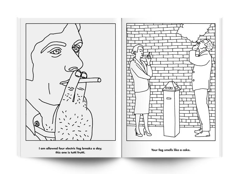 Violence and Coloring - Funny coloring books for relaxing adults