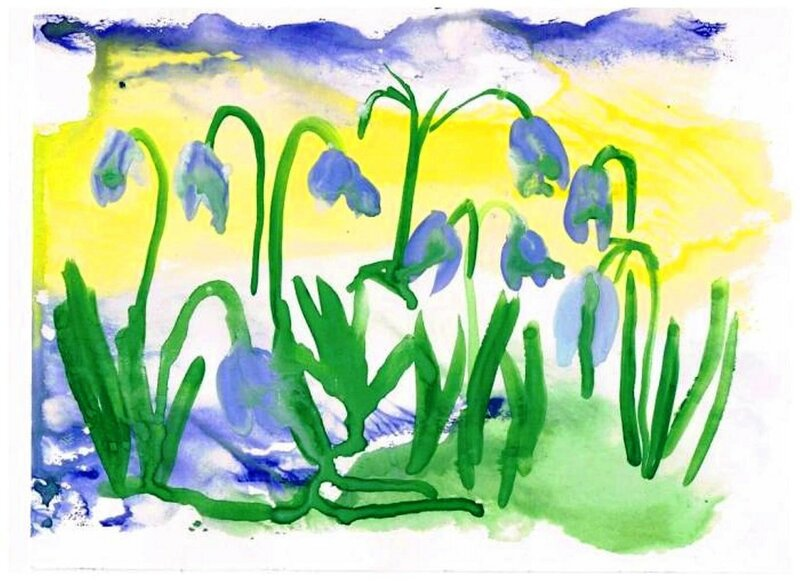 Первые цветы - Попова Валерия Алексеевна, 5 лет, Тема - Рисунок, г. Приморско-Ахтарск.jpg