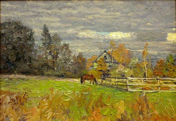А.В. Стекольщиков - Лошади в поле, 2010.jpg