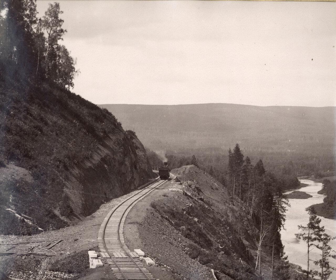 1890-е. Железнодорожная линия вдоль р. Сатка