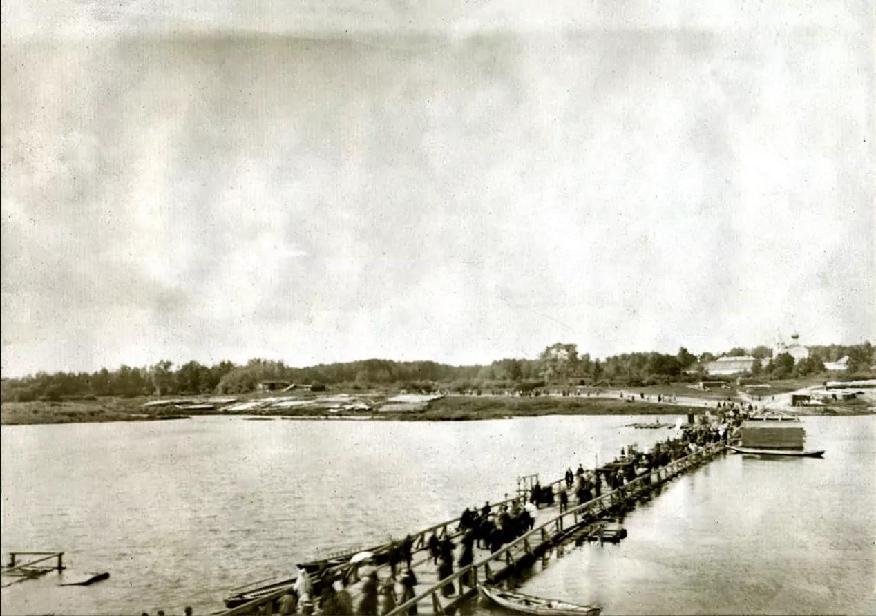 Деревянный мост через Клязьму
