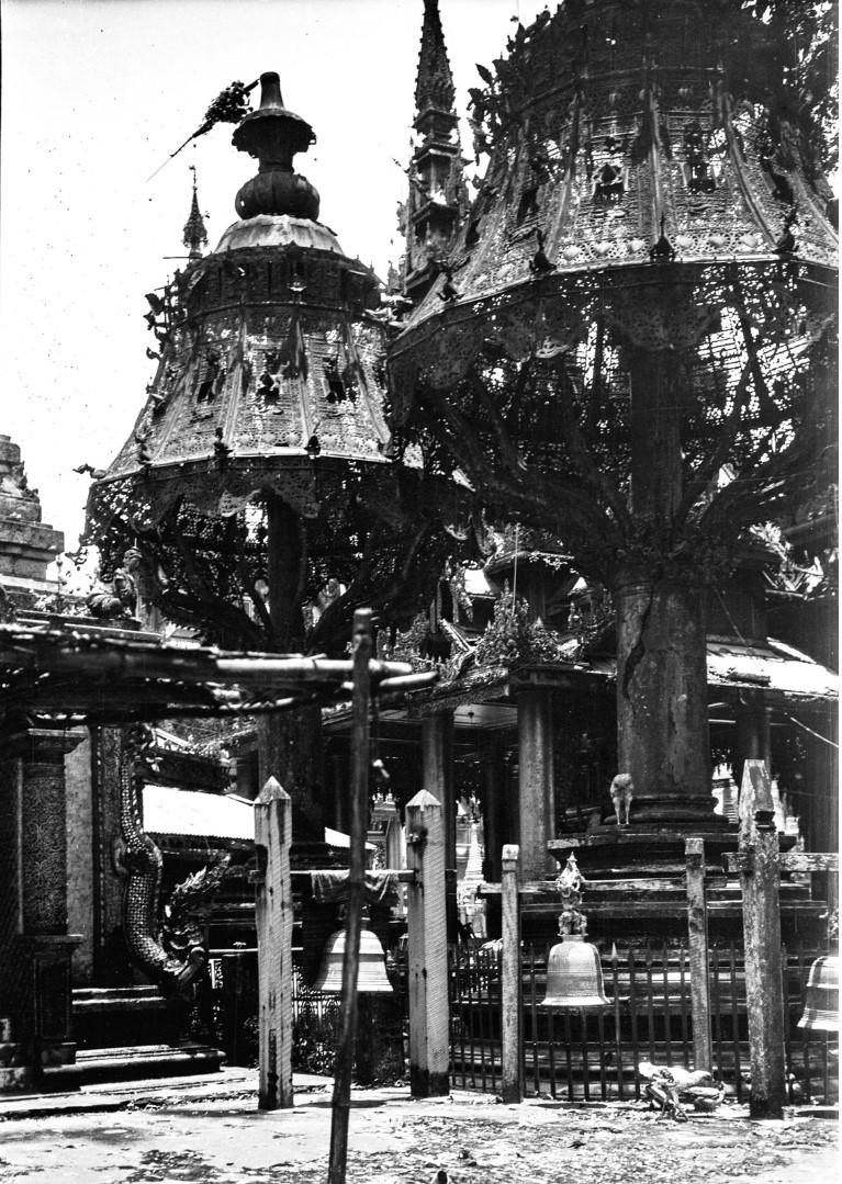843. Рангун. Пагода Шведагон, голубятни
