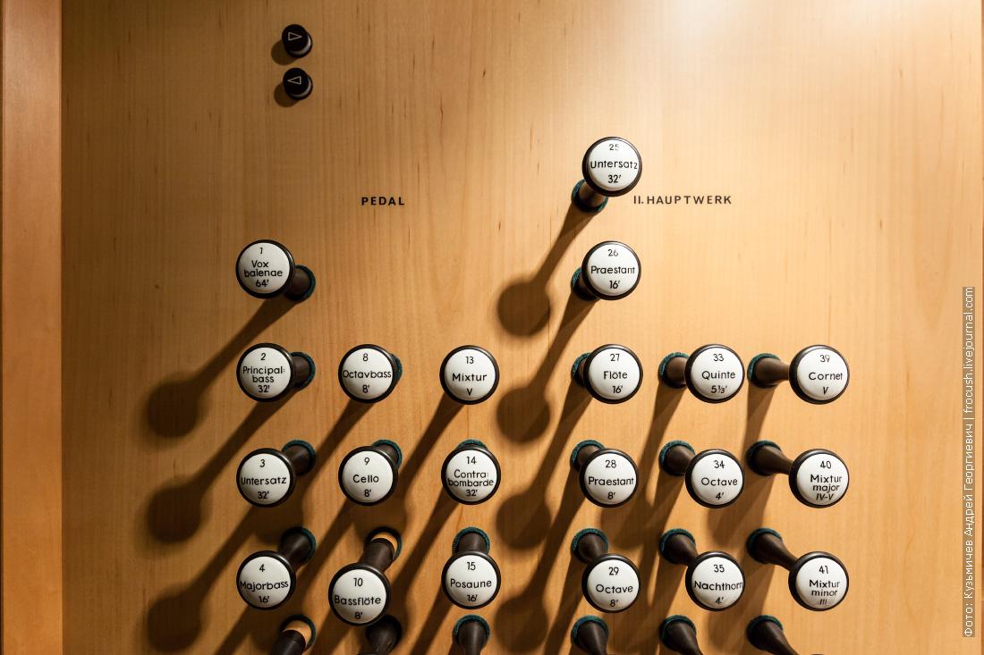 регистры органа