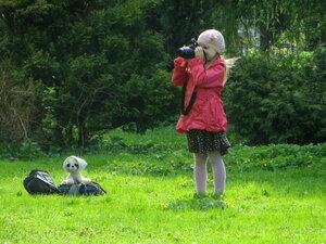 Фотографиня с охранником