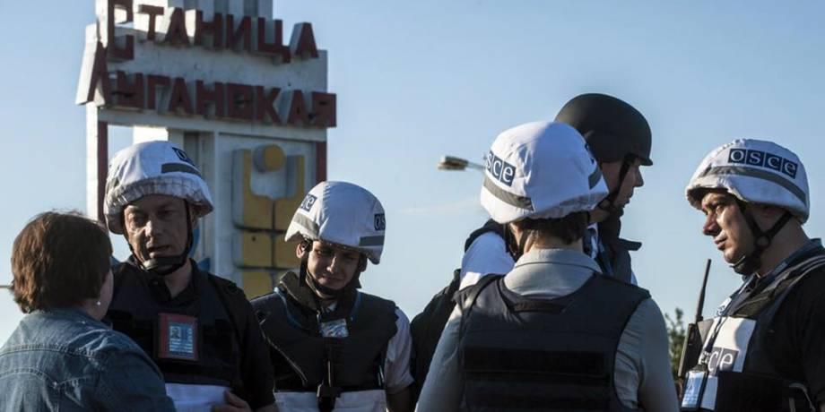 Признаков разведения сил в Станице Луганской нет: в пределах участка был зафиксирован один взрыв, - ОБСЕ