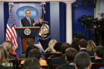 Обама отвечает на вопросы во время пресс - конференции 16.12.2016, Chip Somodevilla