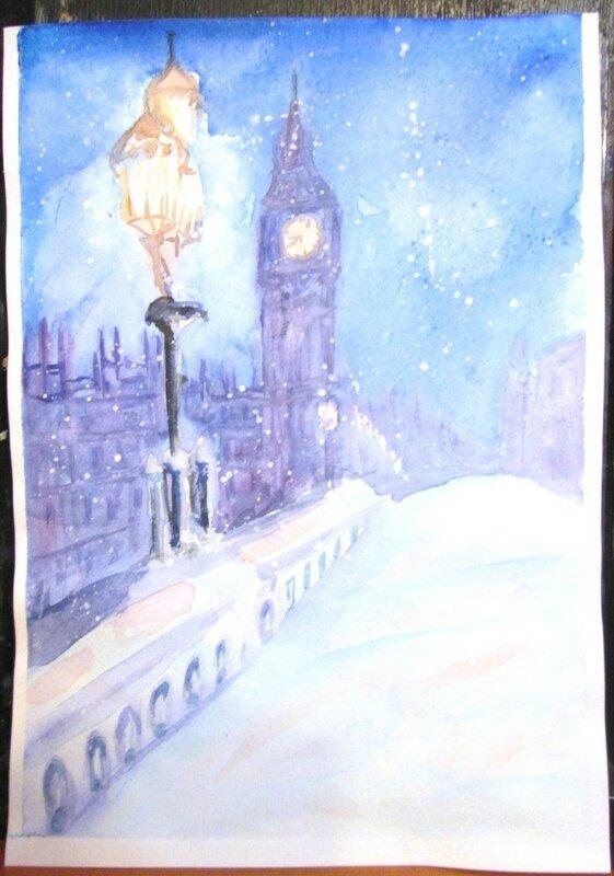 лондон в голубом свете