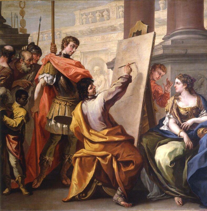Себастьяно Риччи Апеллес изображая Pancasp и приблизительно 1700-1704.jpg
