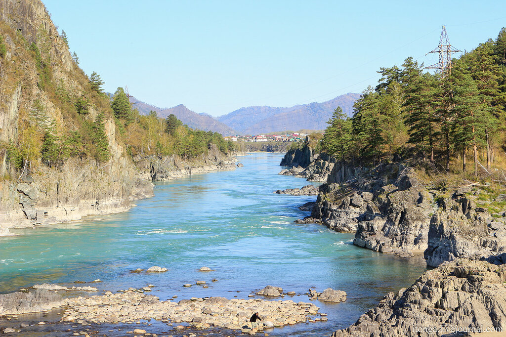 Катунь, Бирюзовая Катунь, река Катунь, Алтай, Горный Алтай, Республика Алтай, устье реки Чемал, Чемал